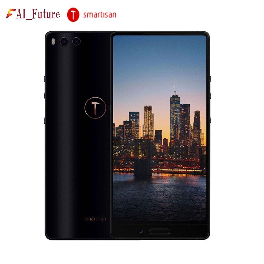 Smartisan Mutter U3 Full screen mit Dual Kamera 4 gb 64 gb Snapdragon 625 5,99 ''4000 mah Gesicht ID fingerprint ID 4g LTE Handy