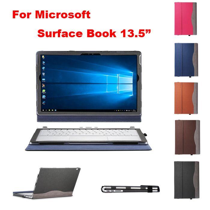 Творческий Дизайн высокое качество Искусственная кожа чехол для Microsoft поверхность книга 13.5 дюймов 2015/2017 для ноутбука защитный чехол