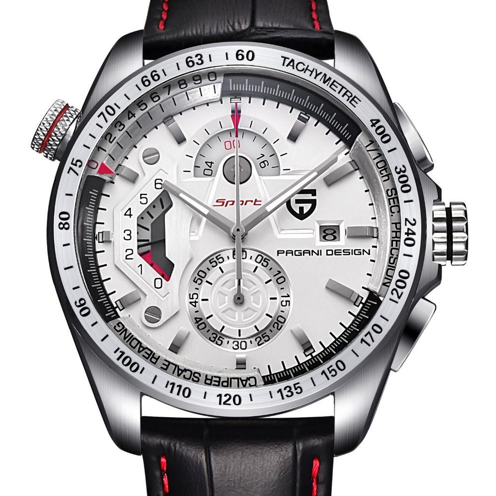 Reloj hombre relojes deportivos hombres reloj de cuarzo de acero inoxidable completa relojes masculino2016 relogio lujo de la marca pagani design