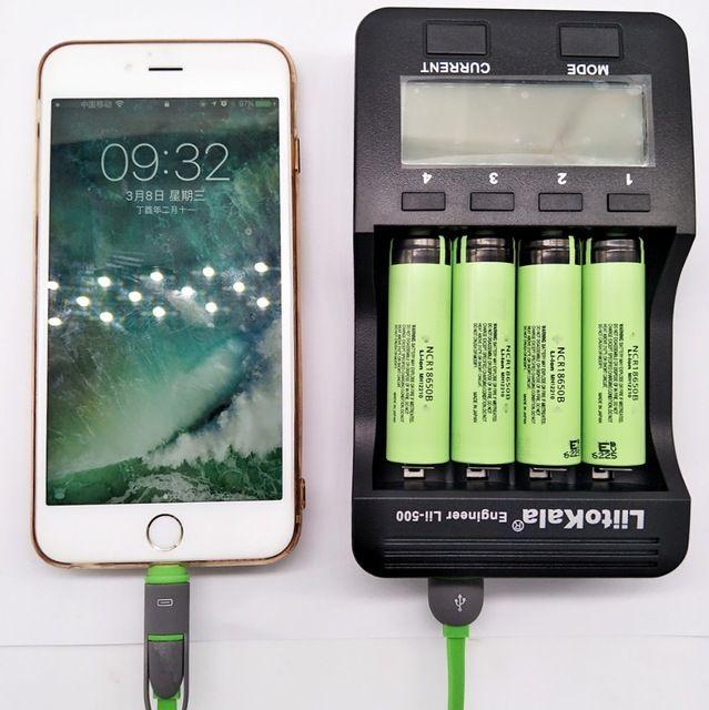 Liitokala lii - 500 LED display charger for 1.2 V / 3 V / 3.7 V / 4.25V 18650/26650/18350/16340/18500/AA/AAA lii-500 rechargea