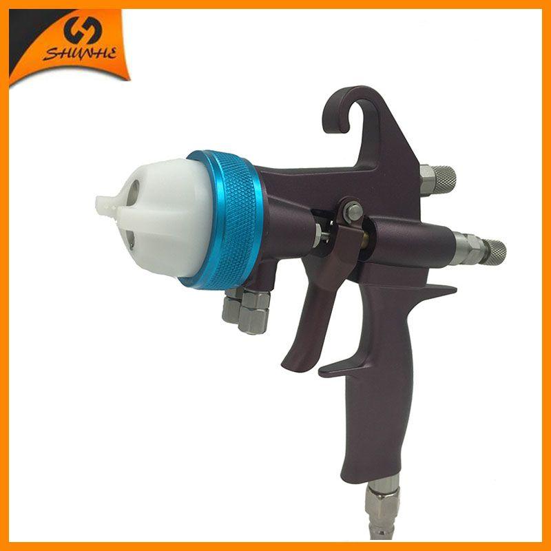 Nano Chrom Doppel Düse Mini Spray Gun Schokolade Chrome Plating Malerei Gun SAT1202