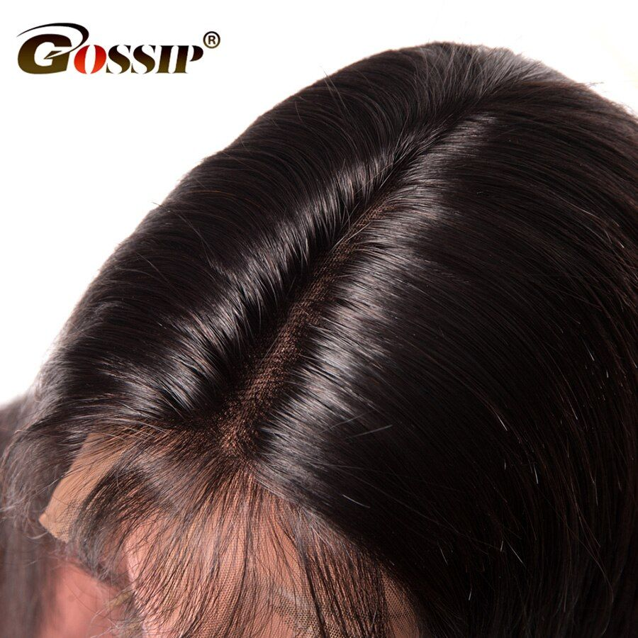 150 Density Lace Front Human Hair Wigs For Black Women Gossip 12*6 Deep Part Long Lace Wig Brazilian Straight Hair Wig Non Remy