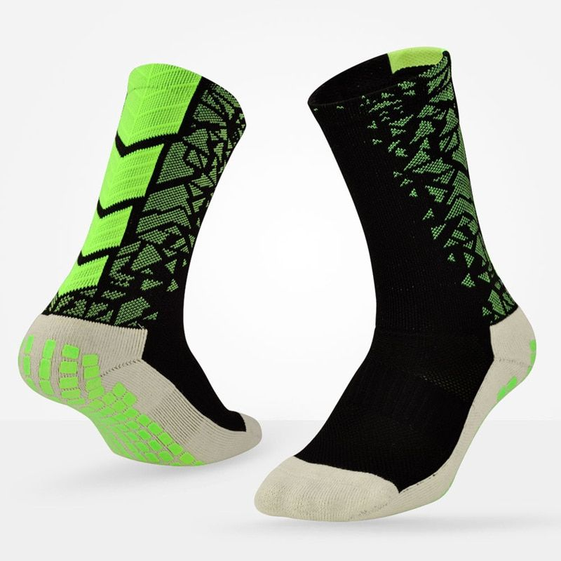 Men Non Slip Soccer Sports Socks Professional Athletic Cycling And Basketball Socks With Anti Skid Gel Socks