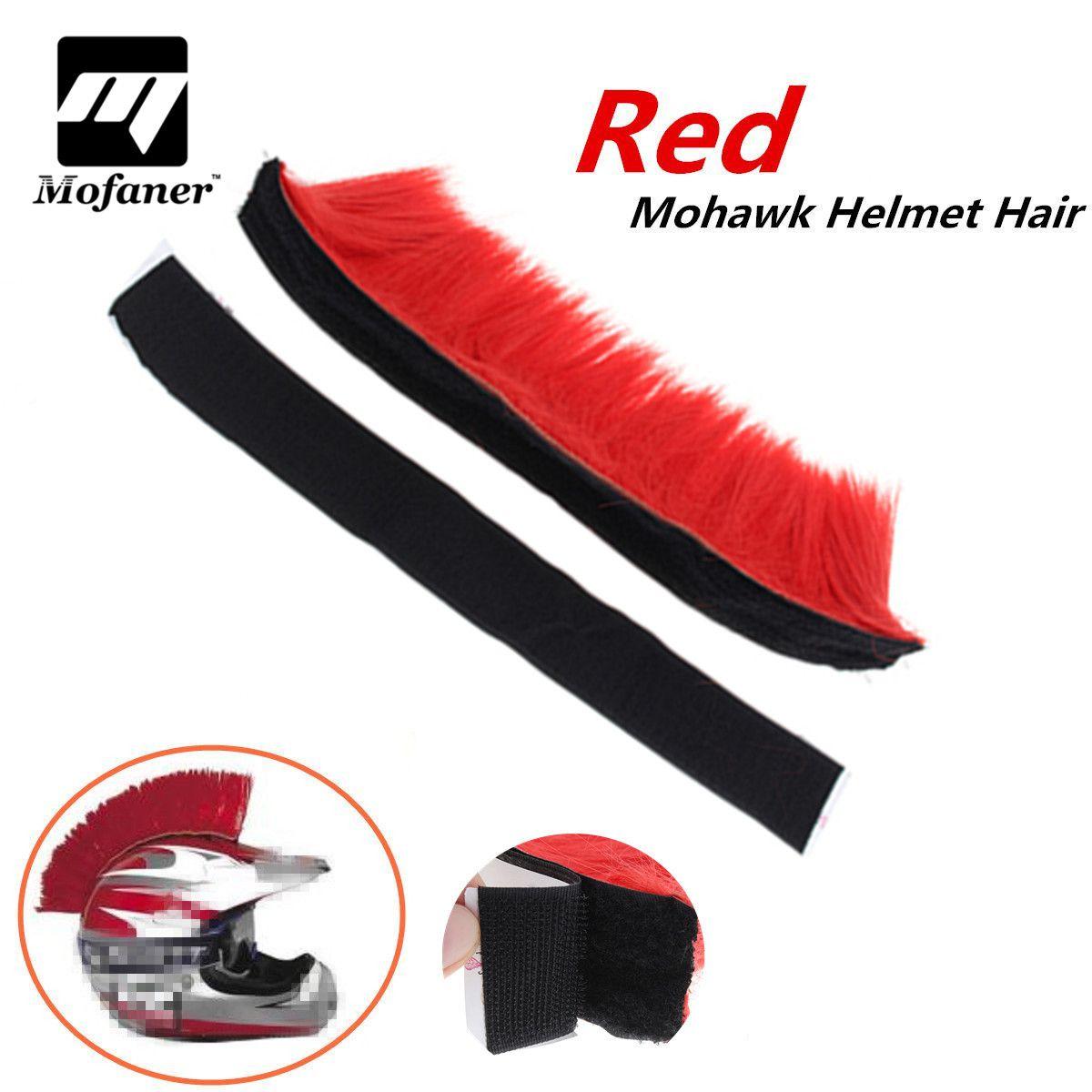 Mofaner Motocross Racing Mohawk Helmet Hair Punk Hair For Motorcycle Helmet Ski Snowboard Paintball Bike Skateboard Race