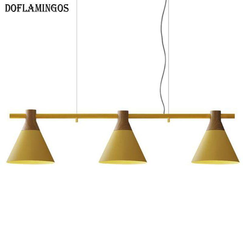 Moderne E27 LED Anhänger Leuchten für restaurant Licht Grau/Blau/Gelb Farbe 85-265 V Hängen lampe Leuchten