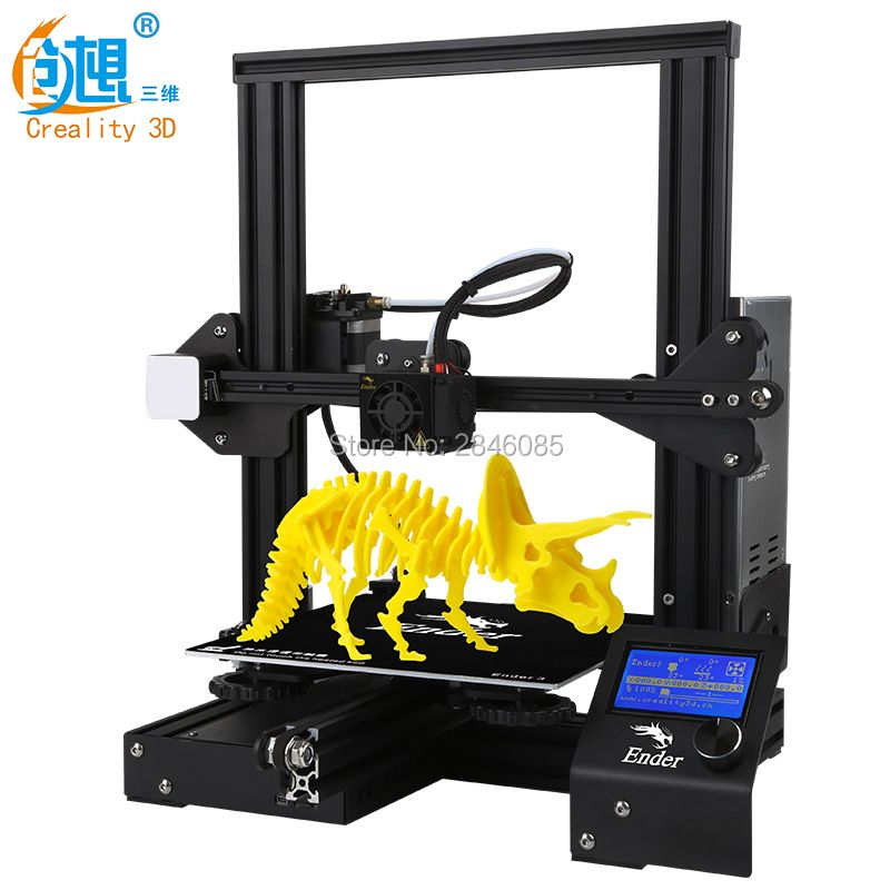 Cheap 3D Printer Creality 3D New Ender-3 Large Print Size 220*220*250mm Metal 3D Printer DIY Super Prusa i3 Upgrade kit