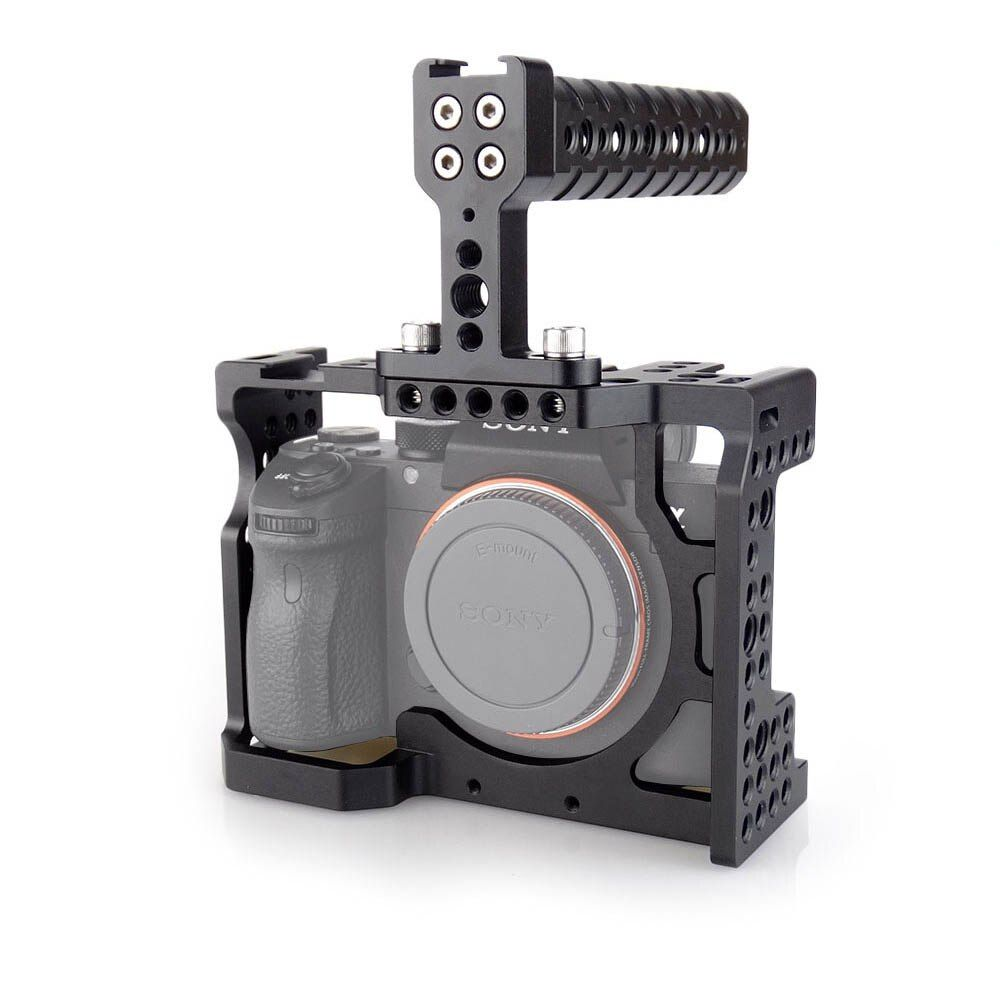 MAGICRIG DSLR Camera Cage with Top Handle For Sony A7II /A7III /A7SII /A7M3 /A7RII /A7RIII Camera To Quick Release Extension Kit