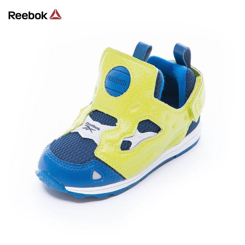 REEBOK Luxury Brand Kids Baby Sport Running Shoes VERSA PUMP FURY SYN Boy Casual Walker Sneakers Slip On Baby Toddler Footwear