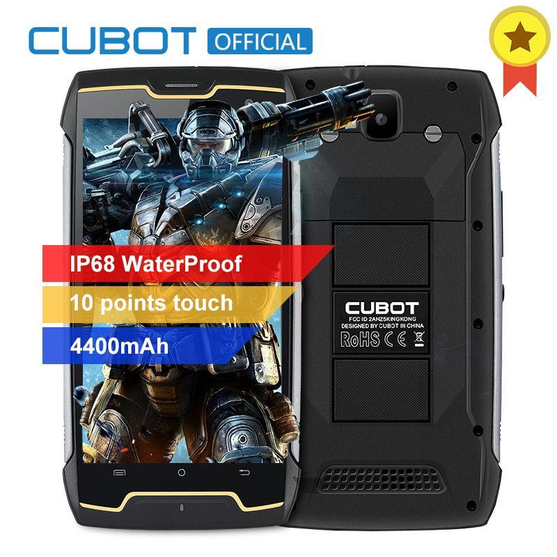 D'origine Cubot KingKong IP68 Étanche À La Poussière Antichoc MT6580 Quad Core Mobile Téléphone 5.0 Pouce HD 2 GB RAM 16 GB ROM 4400 mAh