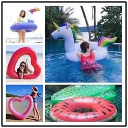 120*90CM adult beach Swimming Rings Circle Inflatable unicorn Giant Pool Water Float kids Toy Mattress Sea Water Party swim laps