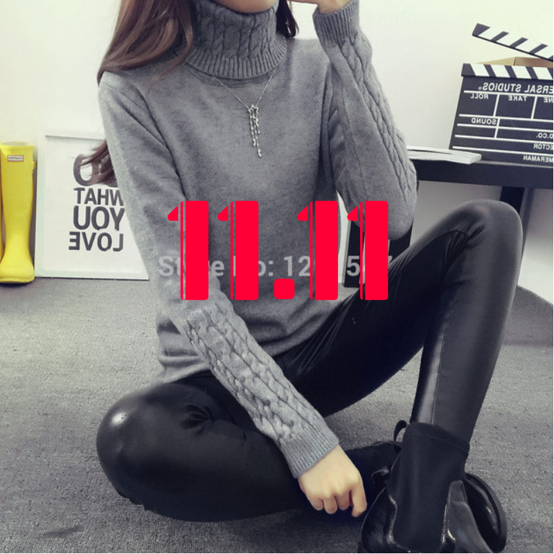 Hot 2018 Spring Autumn Women Sweaters and Pullovers Fashion turtleneck Sweater Women twisted <font><b>thickening</b></font> slim pullover sweater