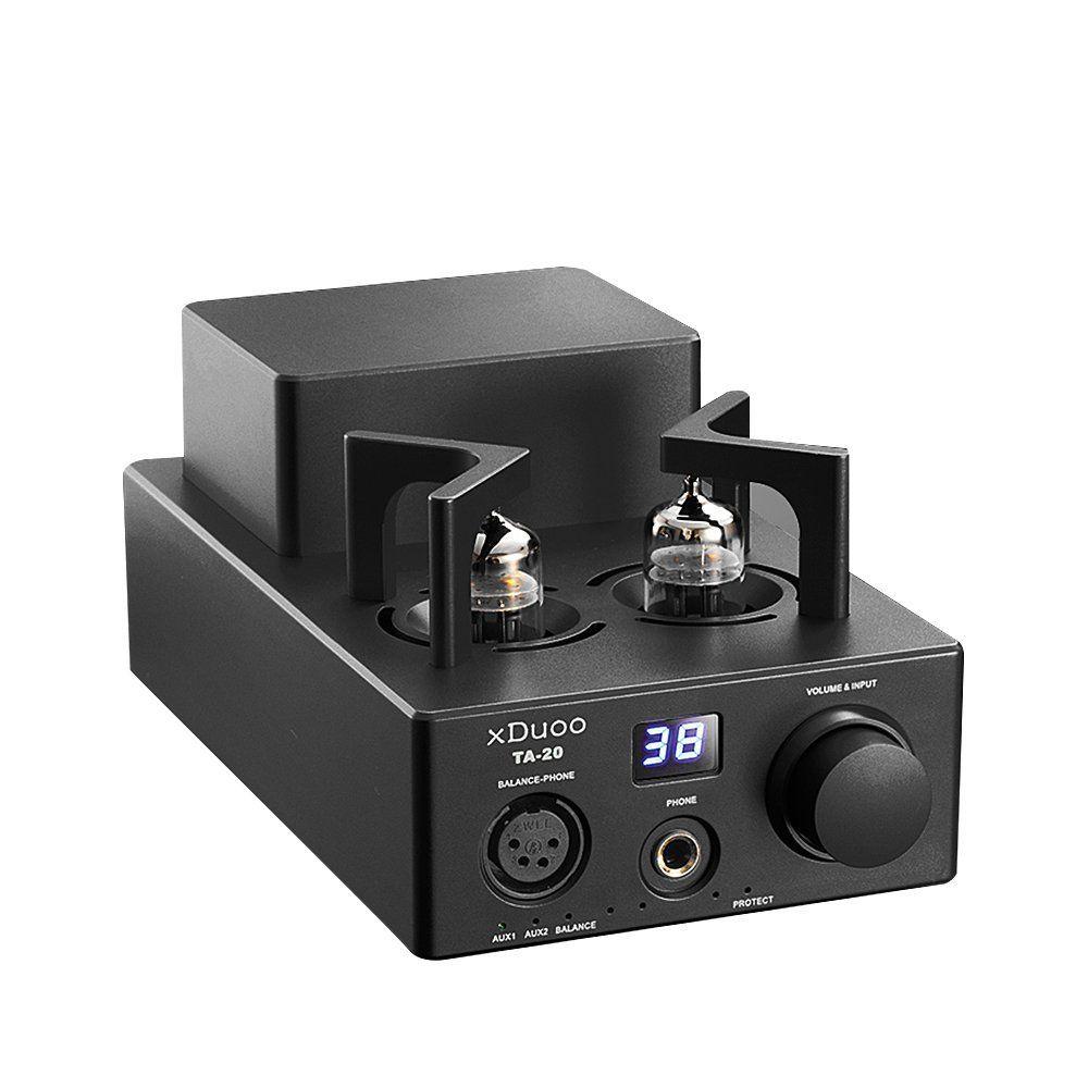 XDUOO TA-20 High Performance Balanced Tube Headphone Amplifier Power Amplifier 12AU7 HIFI AUDIO AMP (Black)