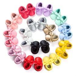 14 colores bebé Niñas princesa Zapatos Fringe mocasín suave Infantil Niño niña cuero Patucos 0-18 m