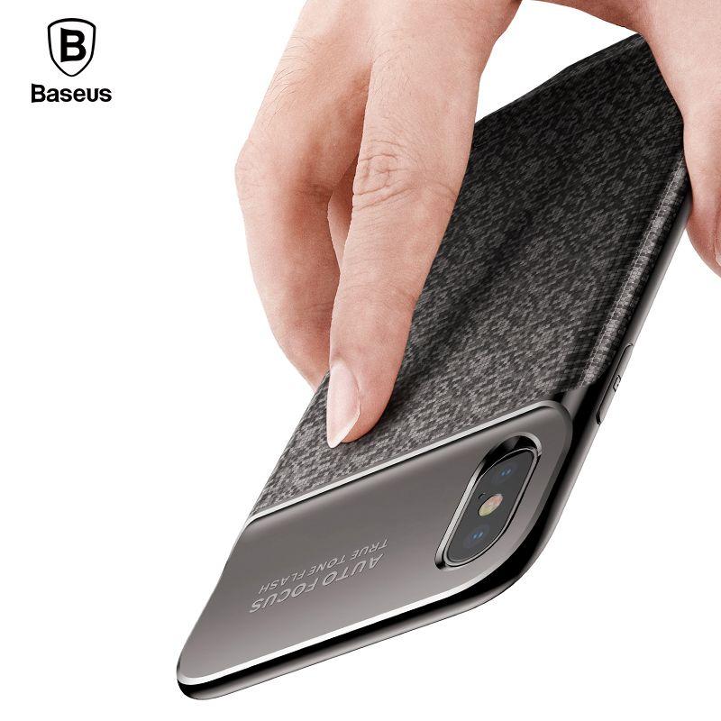 Baseus 3500 mAh Ladegerät Fall Für iPhone X Ultra Slim bewegliche Energienbank Fall Externe Backup-Lade Für iPhone X fall