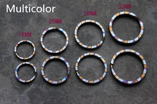 Многоцветный Титан сплава EDC Ultra Light ключ висит брелок DIY Интимные аксессуары Брелок Клип брелок multi Инструменты