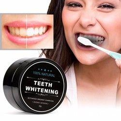 60g uso diario negro dientes blanqueamiento polvo higiene bucal limpieza Premium embalaje activado carbón de bambú en polvo