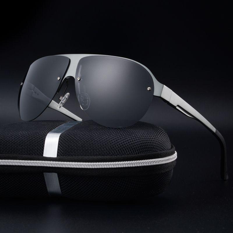 Aabbye Alta quali Diseño Logotipo de la Marca UV400 Gafas de Sol de aviador Hombres gafas de Sol Polarizadas Gafas de Conducción Gafas gafas de sol