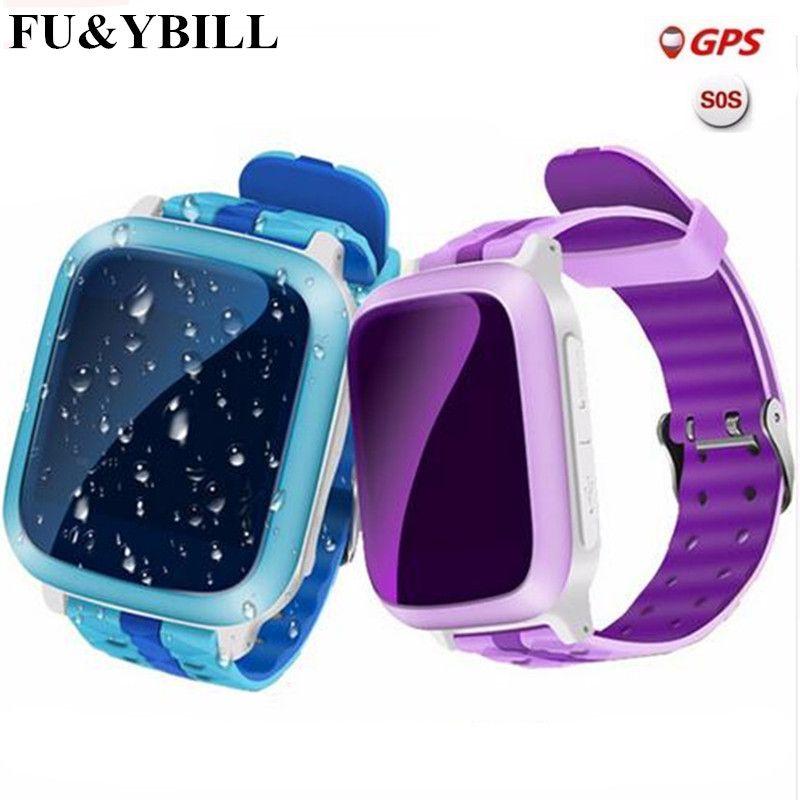 Téléphone intelligent GPS Montre Enfants Enfant Montre-Bracelet DS18 GSM GPS WiFi Locator Tracker Anti-Perte Smartwatch Enfant PK Q80 Q90 V7K Q50