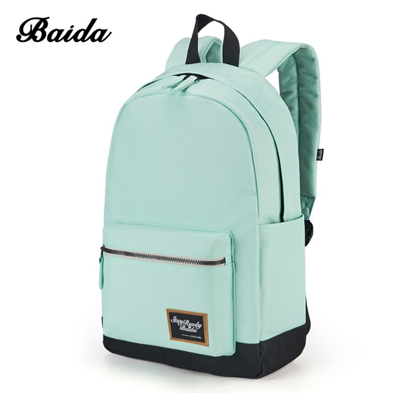 2018 Fashion Backpack for Women Leisure Trip Rucksacks Back Pack for <font><b>Girls</b></font> Teenager Contrast Color Laptop Bagpack School Bags