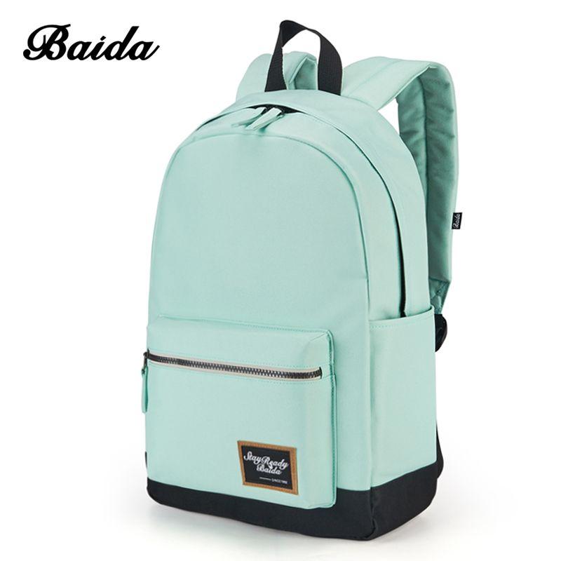 2018 Fashion Backpack for Women Leisure Trip <font><b>Rucksacks</b></font> Back Pack for Girls Teenager Contrast Color Laptop Bagpack School Bags