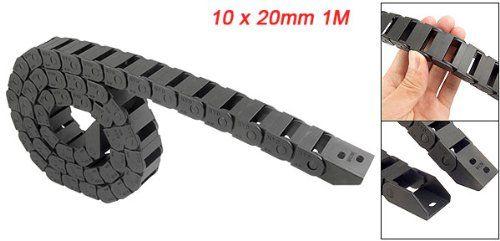 Promotion! 10x20mm 1M ouvert des deux côtés chaîne de traînée de câble de remorquage en plastique