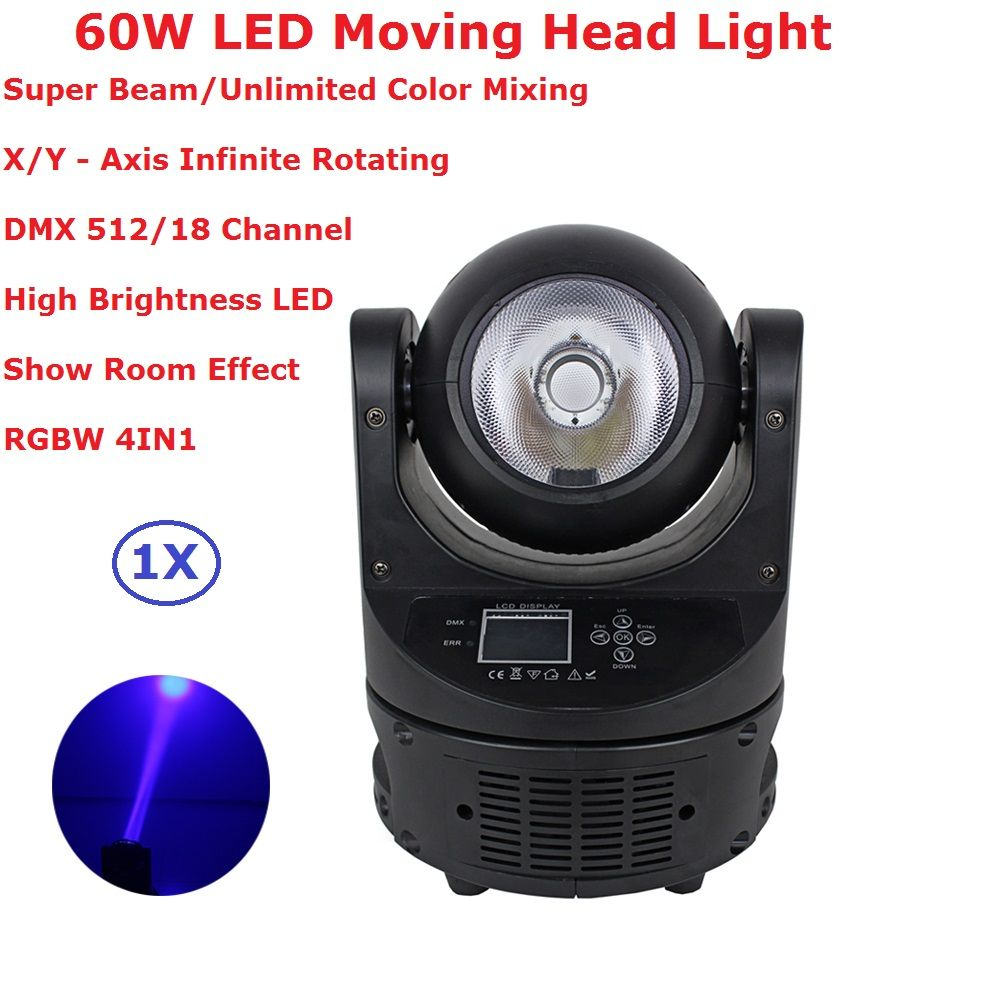 1XLot Ayrton MagicDot-R 60W Stage Led Moving Head Light RGBW 4IN1 Beam Lights 3.5 Degree 18 Channels For Disco Dj KTV Nightclubs