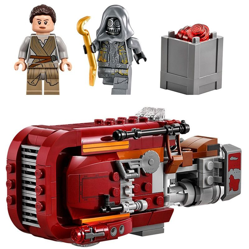 Lepin 05001 206Pcs Star Wars The Force Awakens Rey\'s Chariot Speeder Lepin Building Block Compatible legoing 75099 Brick Toys