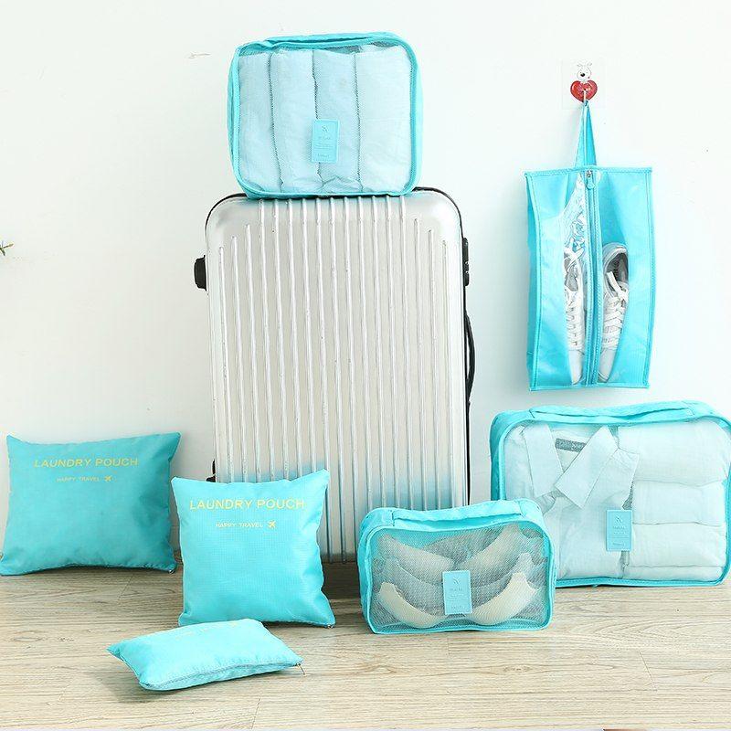 Multifonction 7 pièces/ensemble femmes voyage sac vêtements sous-vêtements soutien-gorge emballage Cube bagages organisateur poche grande capacité sacs à main