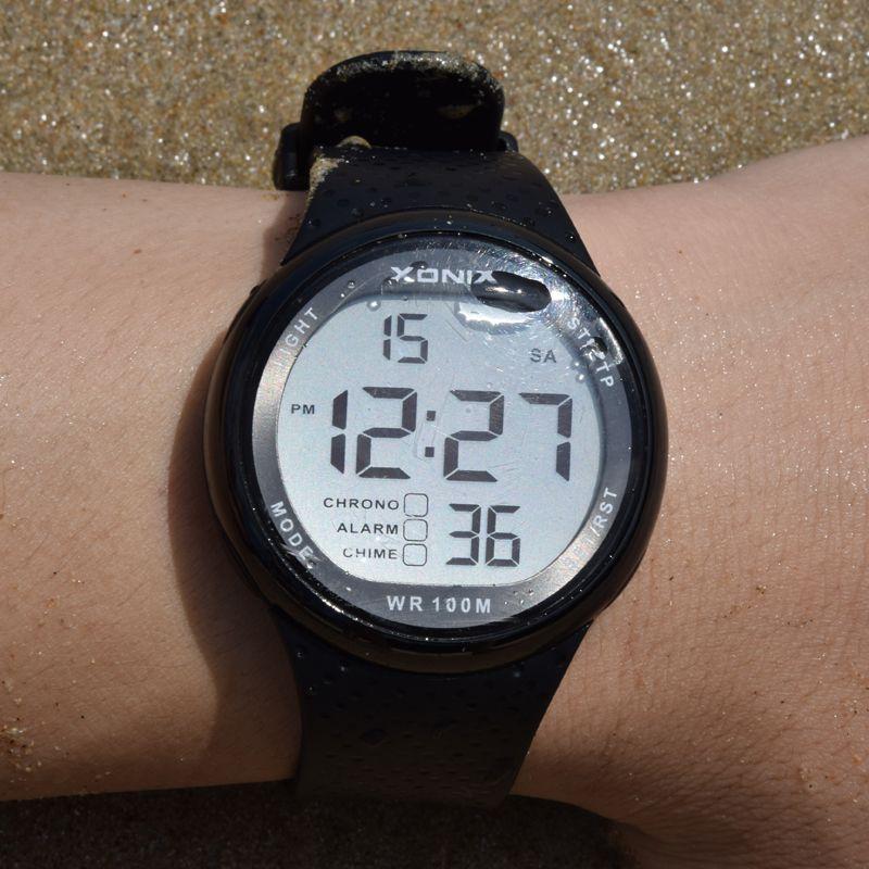Xonix Повседневное Наручные часы цифровой и аналоговый Многофункциональный Для мужчин смотреть, 100 м Водонепроницаемый кварцевые Спортивные ...