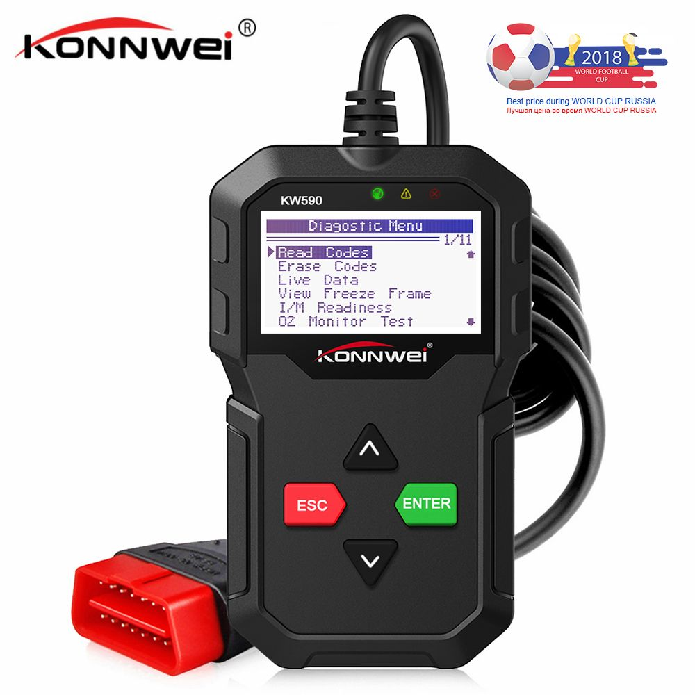Universal OBD2 Car Diagnostic Autoscanner KW590 Automotive Scanner Engine Fault Error Code Reader ODB2 Scanner VS AD310 ELM327