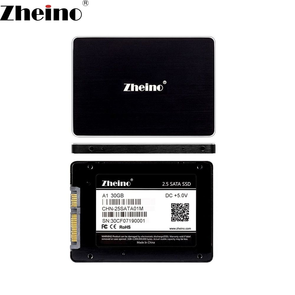 2.5 Zheino 30GB 32GB 60GB 64GB 120GB 128GB 240GB <font><b>256GB</b></font> 480GB 512GB SSD SATA3 Internal Solid Disk Drives Hard Drive for PC Laptop