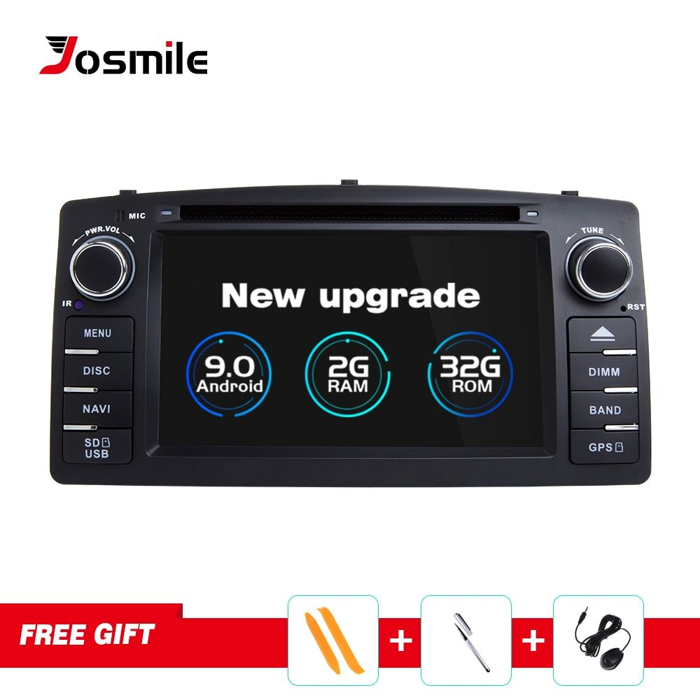 Josmile Android 9.0 2 Din Auto Radio Auto DVD Player Für Toyota Corolla E120 BYD F3 2000 2003 2005 2006 Multimedia GPS Navigation