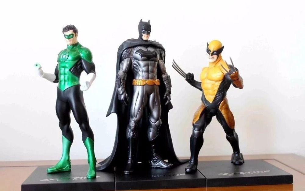 Batman Green Lantern Wolverine Figure Justice League ARTFX+ Statue X MEN Weapon X Iron Man Action Figure Model Collection Toy