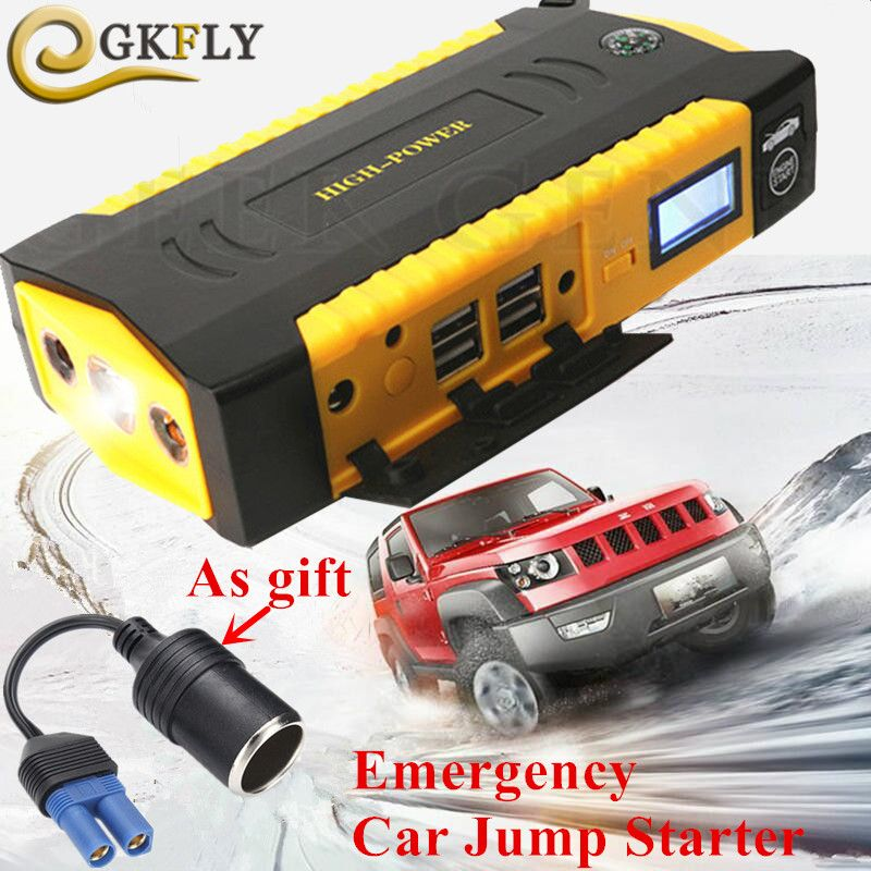 Emergency 16000mAh Starting Device 600A 12V Car Charger For Car Battery Booster Mobile Diesel Petrol Auto Jumper Car Starter LED