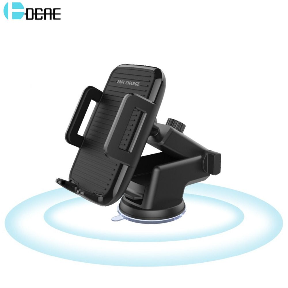 DCAE 10W Car Qi Wireless Charger For Iphone X 8 Plus 5V/2A Fast Charging 360 Rotation Car Holder For Samsung Note 8 S8 S7 Edge