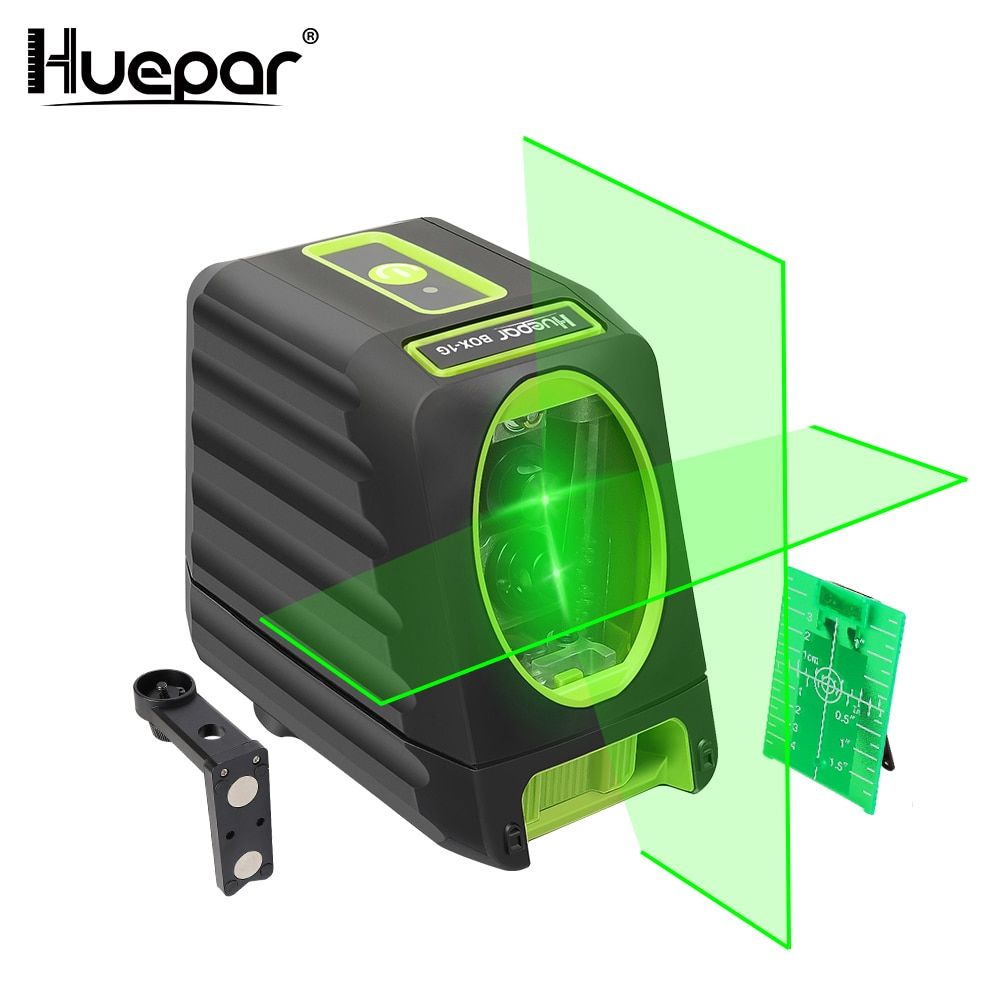 Huepar Laser Level Self-Leveling 360 Horizontal Vertical Cross Super Powerful Red Green Laser Beam Line Laser Outdoor Receiver