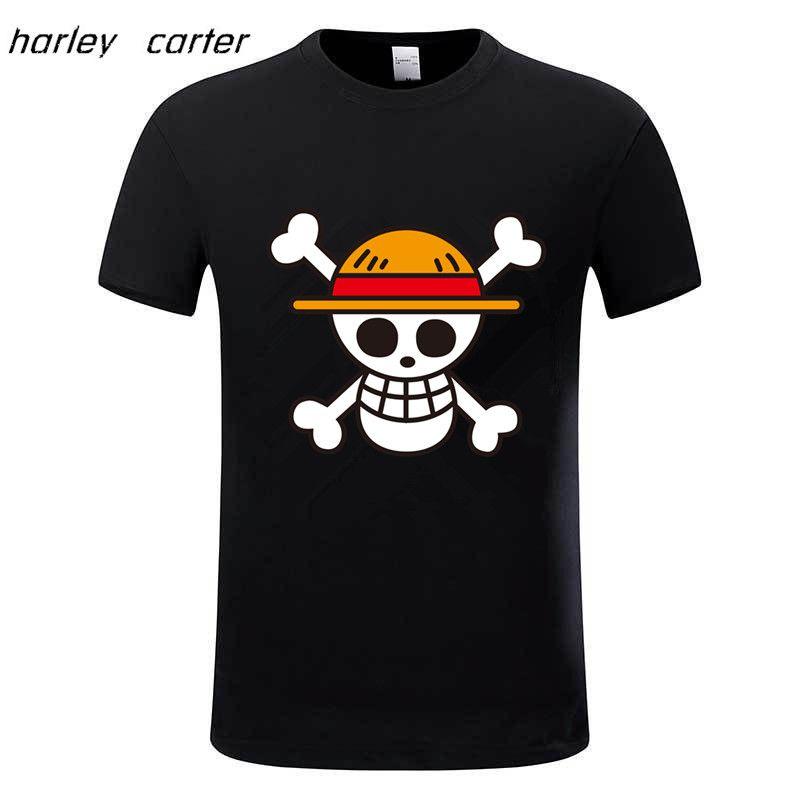 Une Pièce t-shirt 2017 De Mode Japonais Anime Vêtements Retour Couleur Luffy Coton T-shirt Pour Homme Et Femmes, Marque chemisette, GMT009
