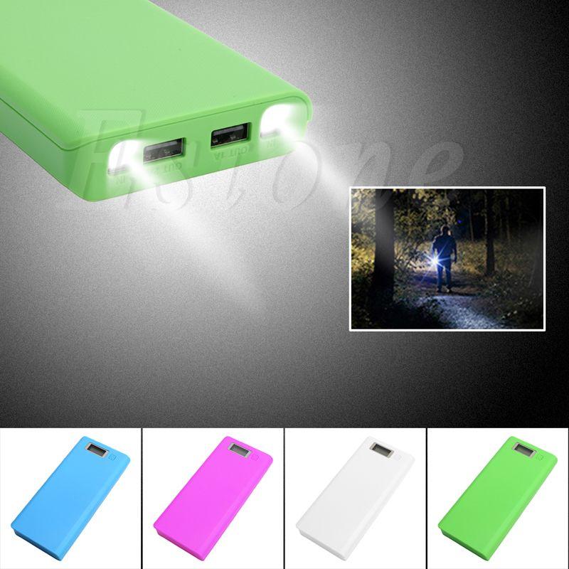 DIY USB Bewegliche Energienbank-ladegerät Fall Pack 8 stücke 18650 Batteriehalter für Telefon