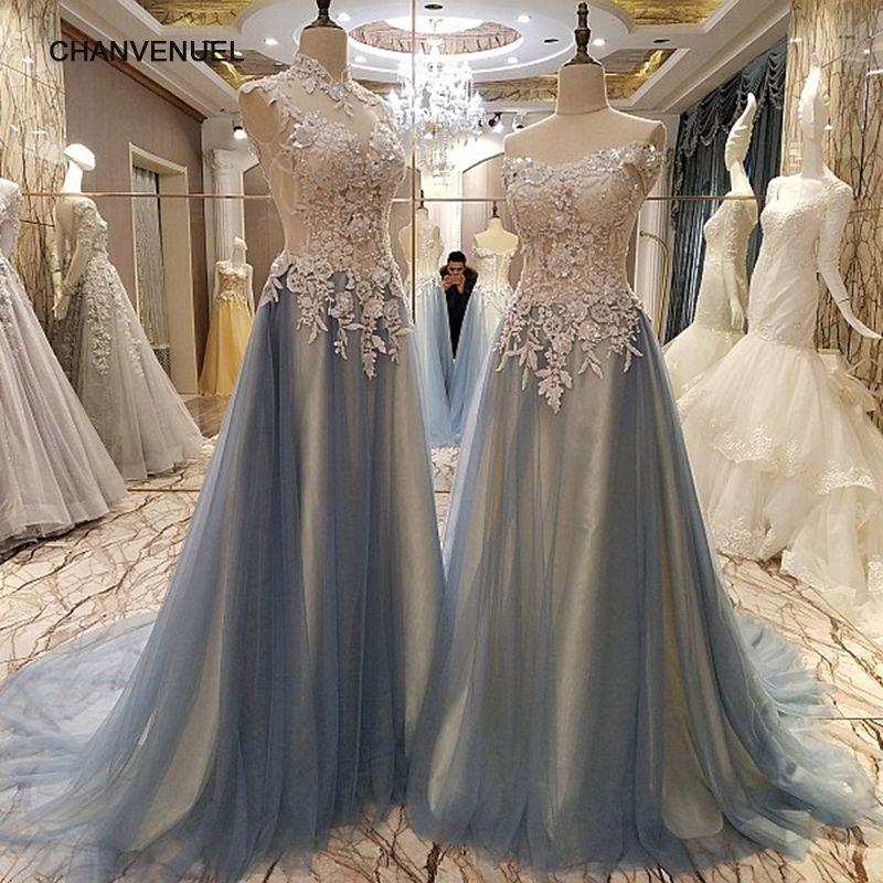 LS86542 elegante lange abendkleider perlen korsett tulle schatz Eine linie formale kleid robe de soiree longue echt fotos