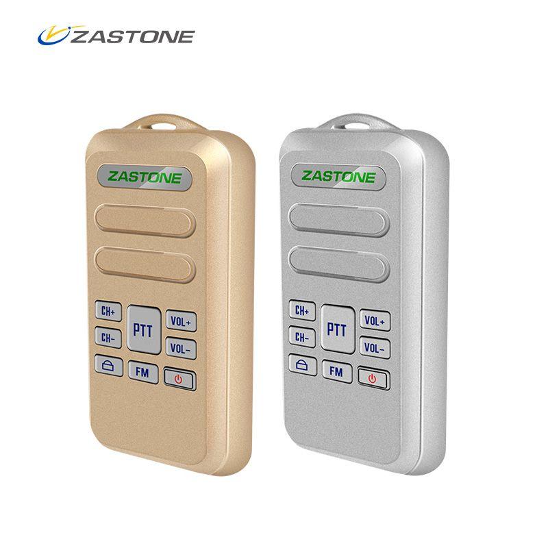2pcs/lot Mini Walkie Talkie ZASTONE Mini6 New Portable Walkie Talkie 2W 16CH 1000mAh UHF 440-470MHz Two-Way Radio HF Transceiver