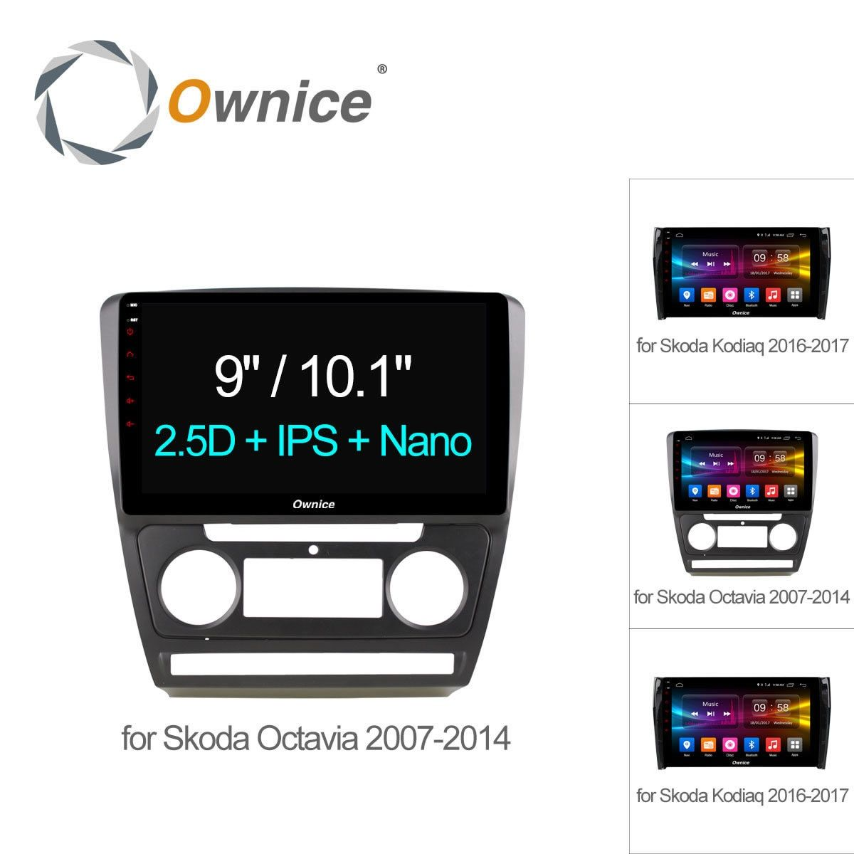 Ownice C500+ 10.1 Octa Octa core Android 6.0 Car DVD Player GPS Navigation for Skoda Octavia 2007 2008 KODIAQ 4G SIM TPMS DAB+