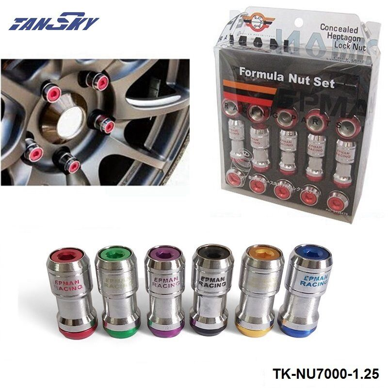 AUTHENTIC EPMAN FORMULA WHEELS LOCK LUG NUTS M12X1.25 20PCS ACORN RIM CLOSE END TK-NU7000-1.25