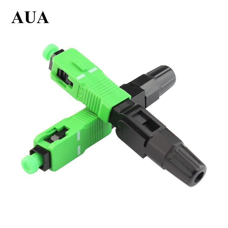 10 PCS/pack Ftth Intégré montage rapide connecteur SC/APC fil recouvert de fiber optique connecteur, APC spécial radiodiffusion CATV