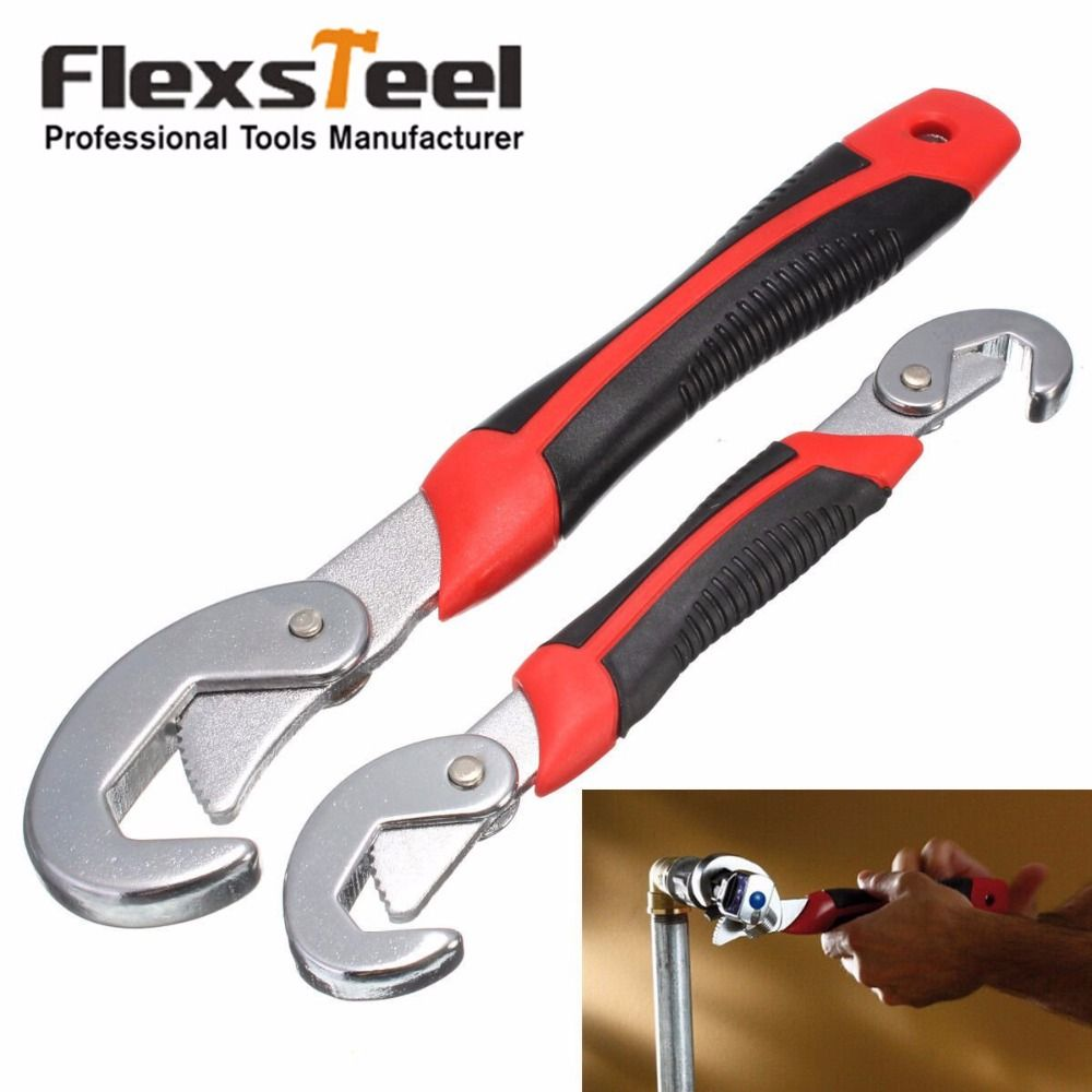 Flexsteel 2PC Multi-Function Universal Wrench Set Snap and <font><b>Grip</b></font> Wrench Set 9-32MM For Nuts and Bolts of All Shapes and Sizes