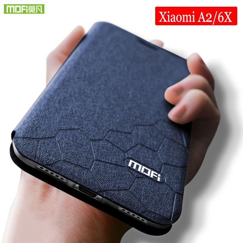 Pour Xiaomi mi 6x cas en Silicone souple Mofi pour Xiaomi 6x cas Flip en cuir pour xiaomi mi a2 cas TPU Funda xiaomi a2 mia2 cas 5.99