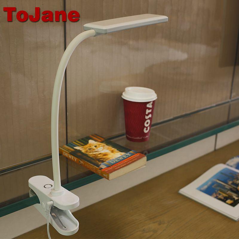 ToJane TG912 Llevó La Lámpara de Lectura Lámpara de Escritorio de $ Number Niveles de Brillo y Color de 8 W Led Lámpara de Mesa de Luz