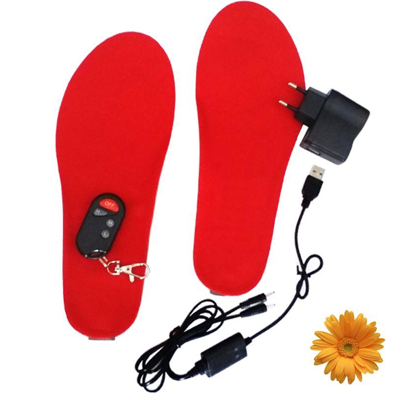 1800ma лыжный код Средства ухода за кожей стоп потепления Стельки Батарея нагрева Беспроводной Термальность Электрический Утеплитель для ног...
