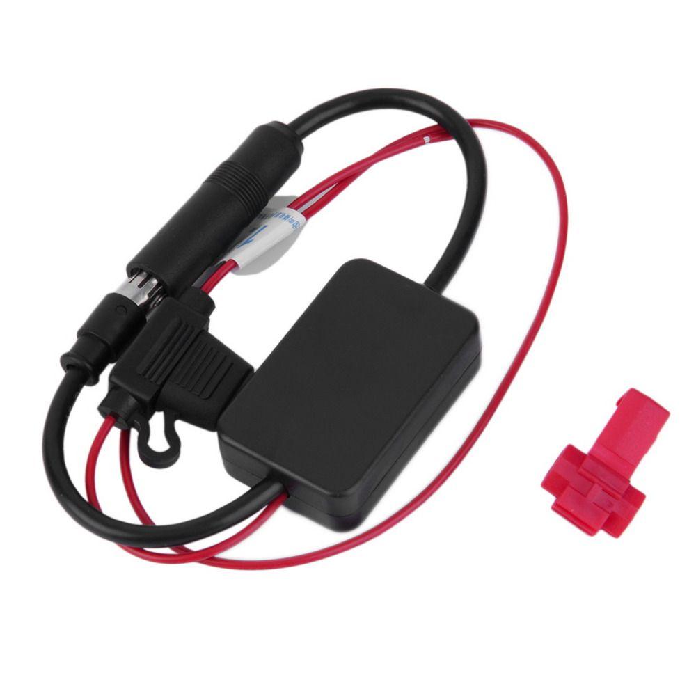 Новый черный 12 В автомобильные Радио сигнала Усилители домашние Ant-208 авто FM/AM Телевизионные Антенны Booster лобового стекла телевизионные анте...