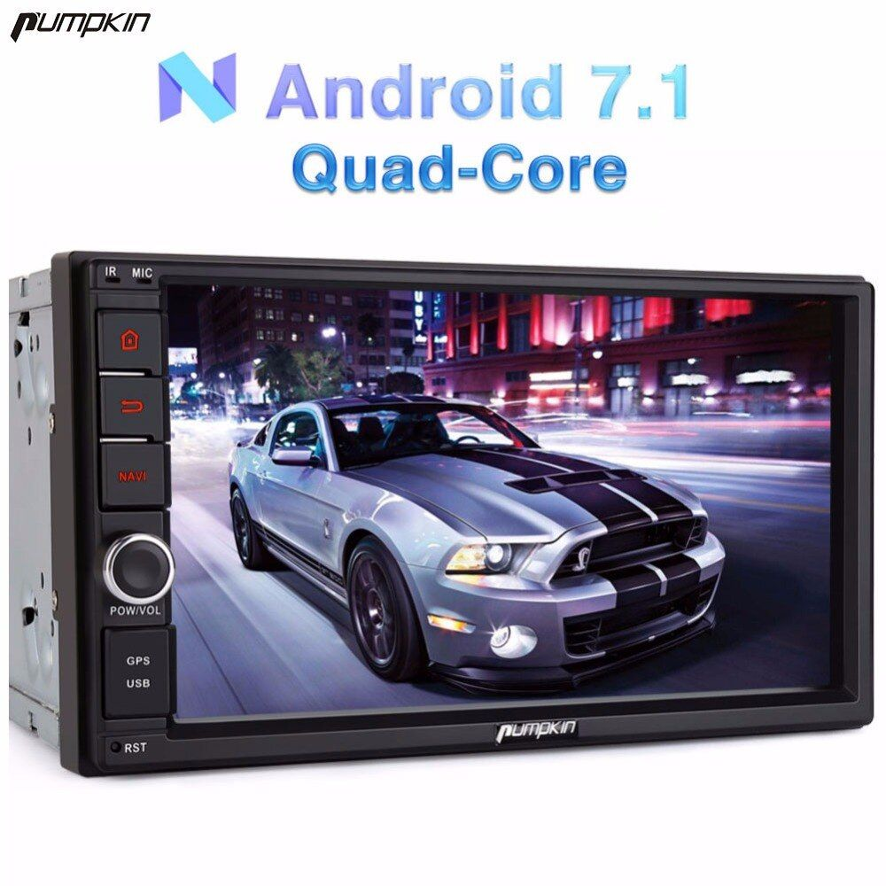 Pumpkin 2 Din 7'' Android 7.1 Univeral Car Radio No DVD Player GPS Navigation Bluetooth Car Stereo Wifi 3G Fast Boot Headunit