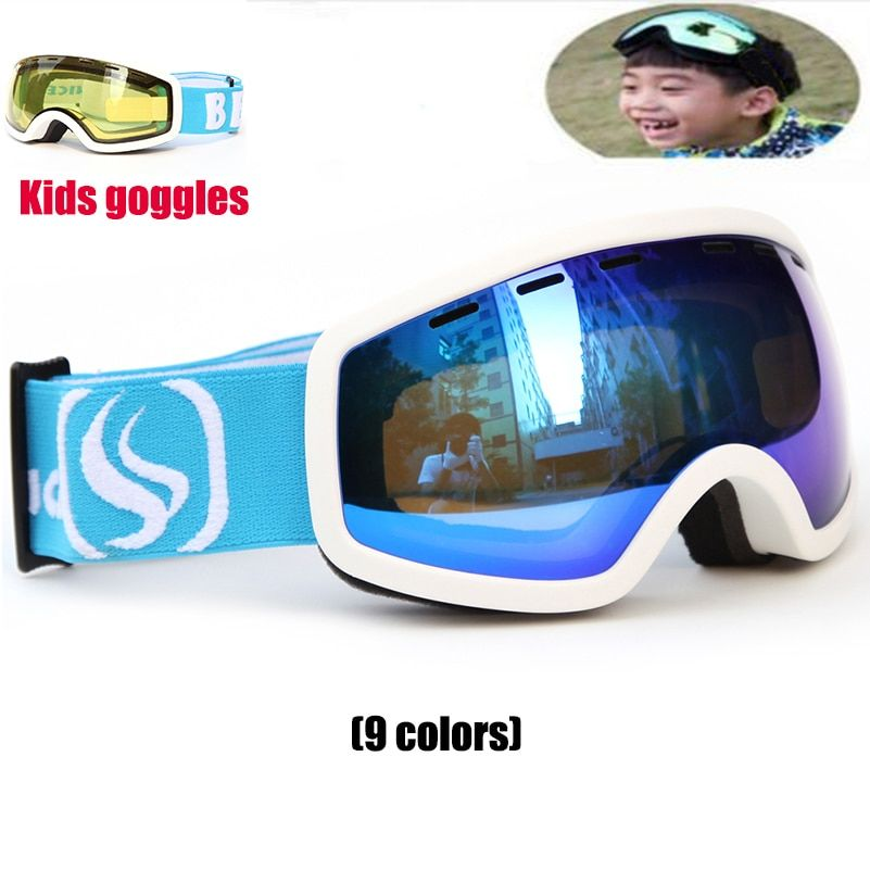 New Snowboard goggles Kids Double Lens UV400 Anti-fog Ski Snow Glasses Child Skiing Mask Winter Girls Boys Eyewear free shipping